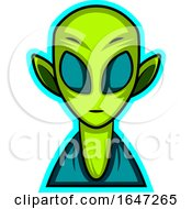 Green Alien Being