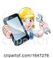 Poster, Art Print Of Mechanic Plumber Handyman Phone Concept