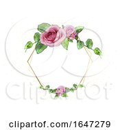 Poster, Art Print Of Rose Wedding Frame