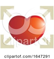 Poster, Art Print Of Red Heart And Arrows