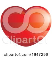 Poster, Art Print Of Striped Red Heart