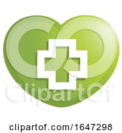 Poster, Art Print Of First Aid Cross Heart