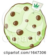 Cartoon Cannabis Cookie