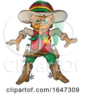 Poster, Art Print Of Rasta Cowboy Ready To Draw Joints