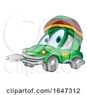 Rasta Car Smoking A Joint