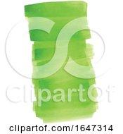 Green Watercolor Strokes
