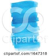 Blue Watercolor Strokes