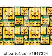 Background Of Jackolantern Pumpkin Monster