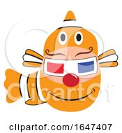 Poster, Art Print Of Egg Character In A Clownfish Costume