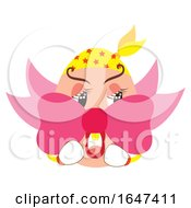 Egg Character Wearing A Bow by Cherie Reve