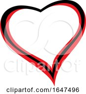 Poster, Art Print Of Black And Red Heart