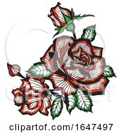 Poster, Art Print Of Red Roses And Buds
