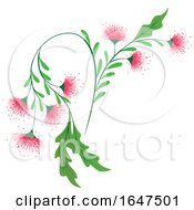 Pink Flowers With Green Stalk