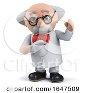 3d Mad Scientist Drinking A Cup Of Coffee by Steve Young