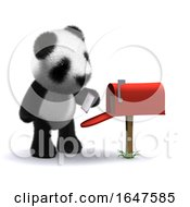 Poster, Art Print Of 3d Letterbox Panda