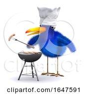 3d Bluebird Has A Barbecue