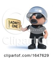 3d Biker Has A Ticket For Admission