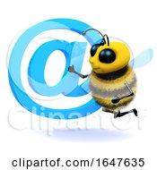 3d Honey Bee Has An Email Address Symbol by Steve Young