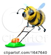Poster, Art Print Of 3d Bee Mows The Lawn