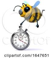 3d Honey Bee Using A Stopwatch