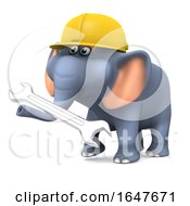 3d Builder Elephant With A Spanner