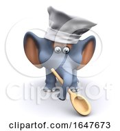 3d Chef Elephant With Wooden Spoon by Steve Young