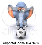 3d Elephant Plays Football by Steve Young