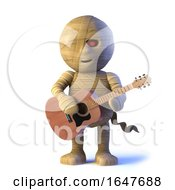 3d Egyptian Mummy Monster Plays Acoustic Guitar by Steve Young