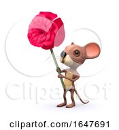Poster, Art Print Of 3d Romantic Mouse