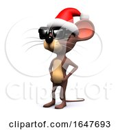 3d Cool Mouse Santa by Steve Young