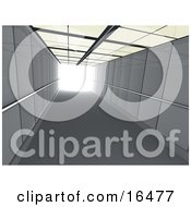 Corridor Or Elevator Shaft With Bright Light At The End Clipart Illustration Graphic