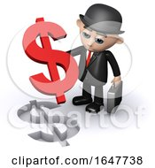 3d Businessman Dollar Puzzle by Steve Young