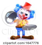3d Silver Service Clown by Steve Young