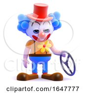 3d Clown Has Had A Crash by Steve Young