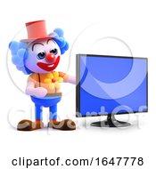 3d Clown Flatscreen Tv by Steve Young