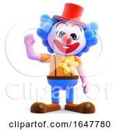 3d Clown Waving by Steve Young