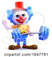 3d Clown Lifts Weights by Steve Young