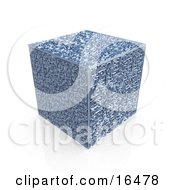 Interesting Cube With A Complex Maze On All Surfaces Clipart Illustration Graphic