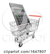 3d Shopping Trolley Holds Giant Calculator