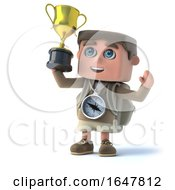 3d Explorer Kid Wins The Gold Trophy