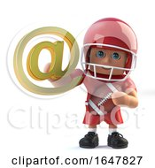 3d American Footballer Has Internet Address Symbol by Steve Young