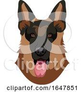 German Shepherd Dog Face