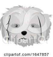 Maltese Dog Face by Morphart Creations