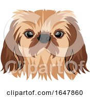 Pekingese Dog Face by Morphart Creations