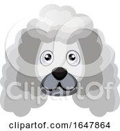White Poodle Dog Face