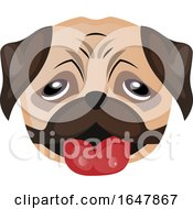 Pug Dog Face by Morphart Creations