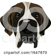 Saint Bernard Dog Face