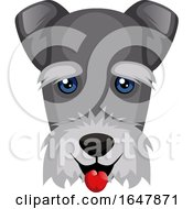 Schnauzer Dog Face by Morphart Creations