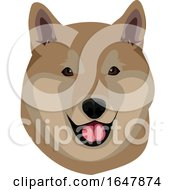 Shiba Inu Dog Face by Morphart Creations