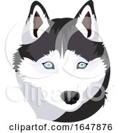 Siberian Husky Dog Face by Morphart Creations
